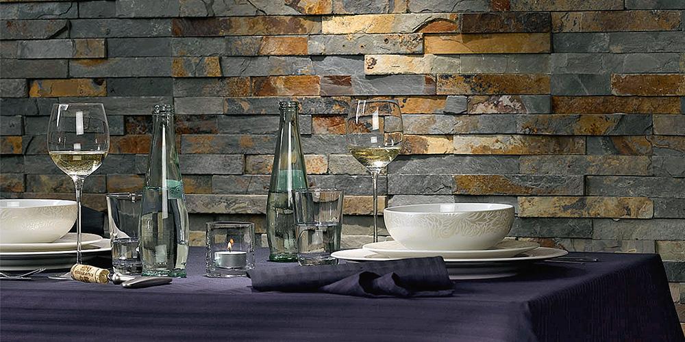 brickstones an der wand - Wand Aus Naturstein